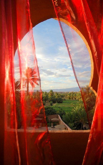 A Room with a View - Sunset at Riad Dar Chamaa - Ouarzazate, Morocco - Photo by Ben SJ