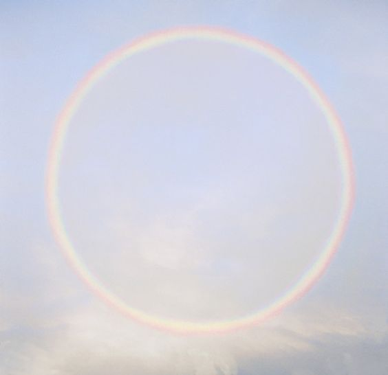 Background - Full Circle Rainbow رنگین کمان