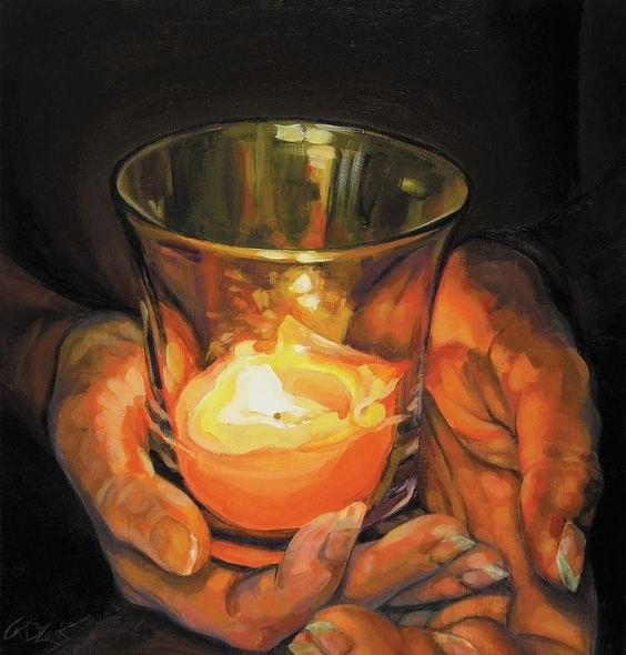 Hands By Candlelight | Rebecca Zook | ربکا زوک