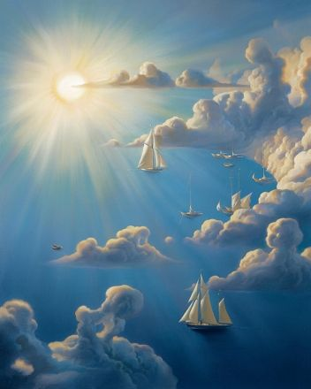Heavenly Harbor by Vladimir Kush