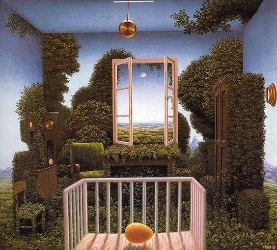 Jacek Yerka | جاسک یرکا-  surreal painting
