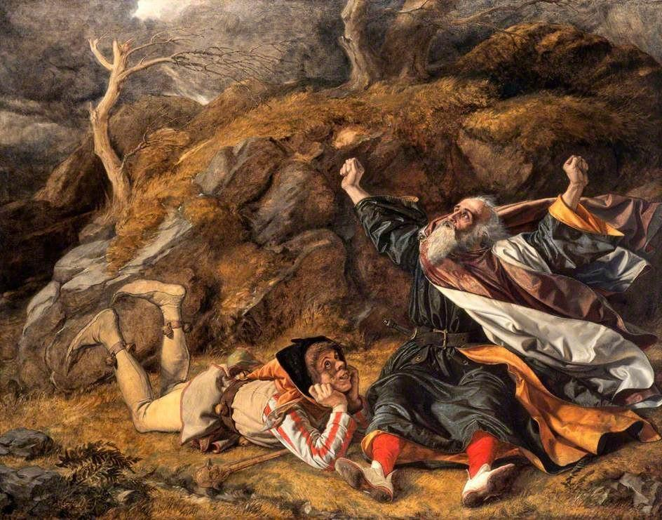King Lear And The Fool In The Storm By William Dyce | نقاشی از ویلیام دایس