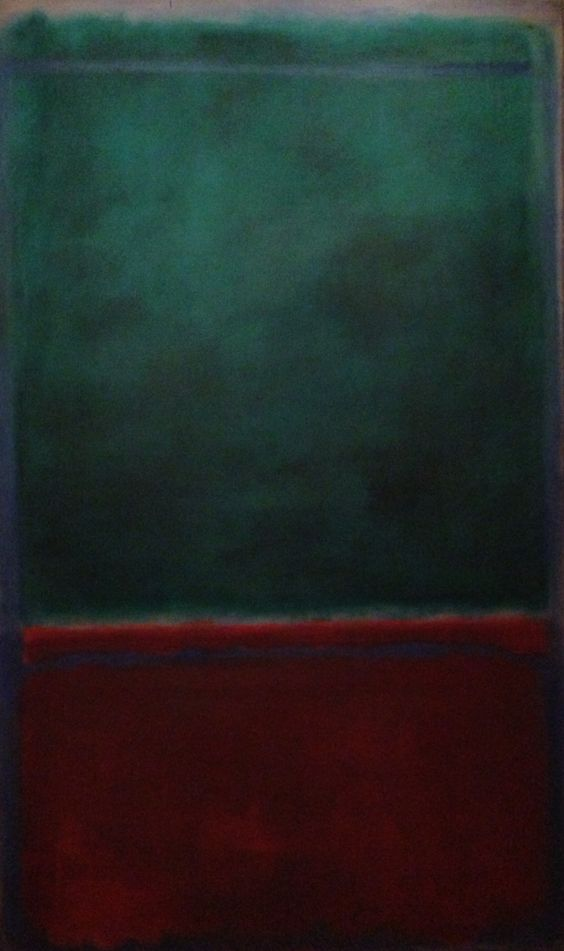 MARK ROTHKO Green and Maroon مارک روتکو