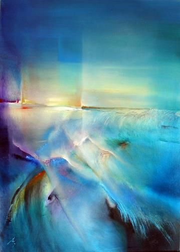 Nordlicht by Annette Schmucker, Abstract art, Miscellaneous Landscapes, Painting | آنت شوماکر