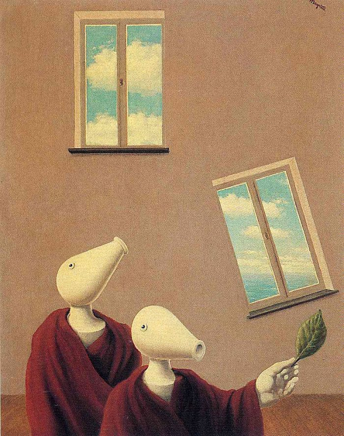 Rene Magritte - Natural Encounters 1945 delbarg_ir