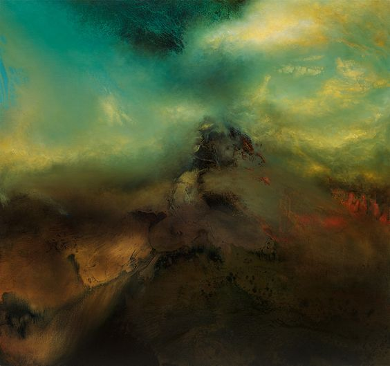 Samantha Keely Smith Explores Powerful Collisions of Dark and Light in Her Abstract Elemental Paintings | نقاشی از سامانتا کیلی اسمیت