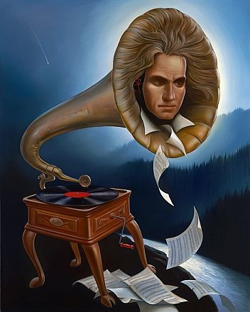 Spirit of Beethoven by Vladimir Kush