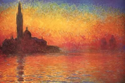 Sunset in Venice by Claude Monet کلود مونت