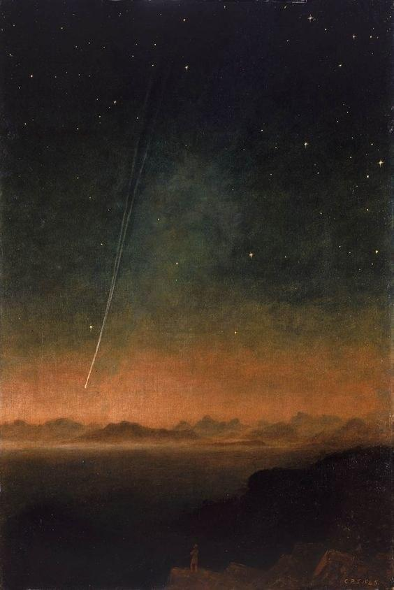 The Great Comet of 1843 by Charles Piazzi Smyth چارلز پیاتزی سمیت